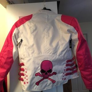 Small motorcycle jacket with pads